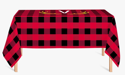 Custom Cotton Table Cloth- Buffalo Plaid Red