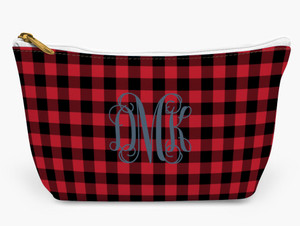 Accessory Zip T-Tote- Buffalo Plaid