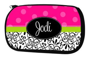Cosmetic Bag-Hot Pink Dot