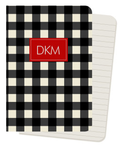 Mini Journals - Buffalo Check Black