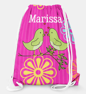 Drawstring Backpack- Tweet Love