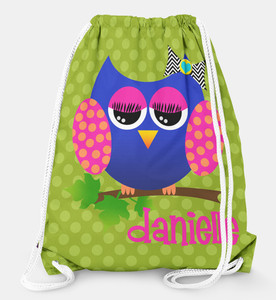 Drawstring Backpack-Allie the Owl