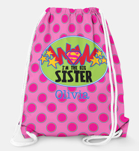 Drawstring Backpack-Big Sister