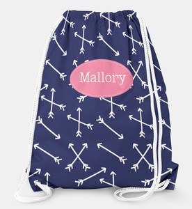 Drawstring Backpack- Arrows