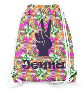 Drawstring Backpack- Orange Crush Tie Dye