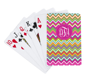 Playing Cards- Multicolor Chevron