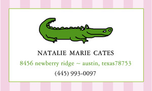 Calling Cards- Alligator