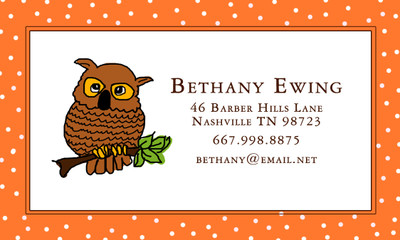 Calling Cards-Ollie the Owl