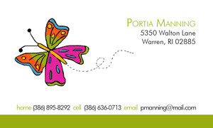 Calling Cards- Butterfly