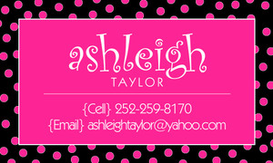 Calling Cards- Hot Pink Dots