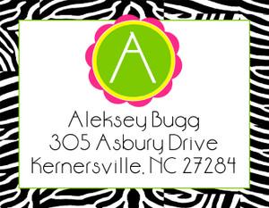 Address Stickers -Zebra Pop