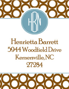 Address Stickers -Conservative Monogram