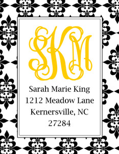 Address Stickers - Damask