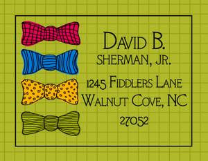 Address Stickers - Bowties that Bind