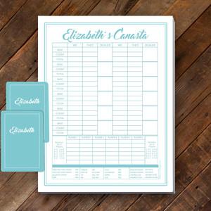 Canasta Pad Gift Set- Elizabeth- Beach Blue