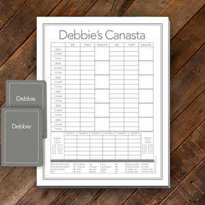 Canasta Pad Gift Set- Debbie-Gray