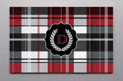 Canvas Wall Art-Red Plaid