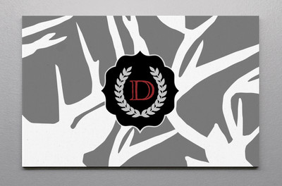 Canvas Wall Art-Abstract Deer Gray