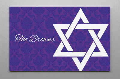 Canvas Wall Art-Damask Star of David