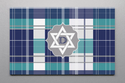 Canvas Wall Art-Hannuakah Plaid