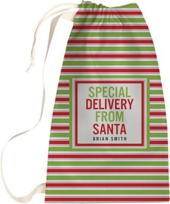 Santa Sack - Red and Green Stripe