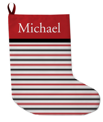 Stocking - Merry & Bright Red/Blk