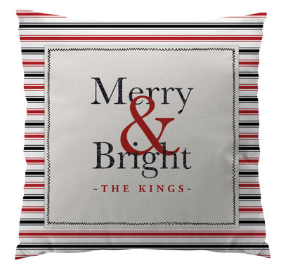 Pillows - Merry & Bright Red and Black