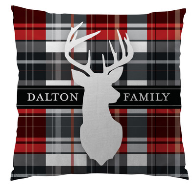 Pillows - Red Plaid with Deer