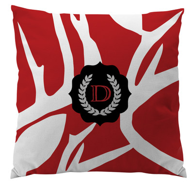 Pillows - Abstract Deer Red