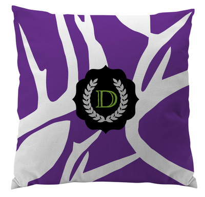 Pillows - Abstract Deer Purple