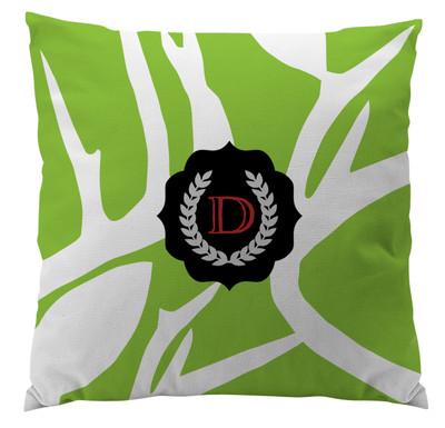 Pillows - Abstract Deer Green