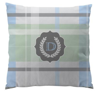 Pillows - Light Blue Plaid Seal