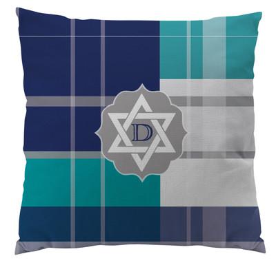 Pillows - Hanukkah Plaid