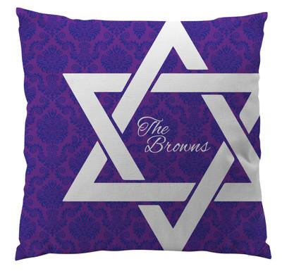 Pillows - Hanukkah Star of David Damask