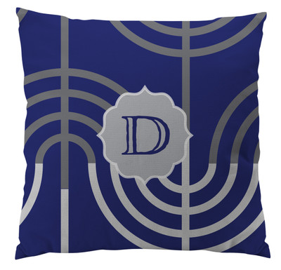 Pillows - Hanukkah Menorah Blue Large