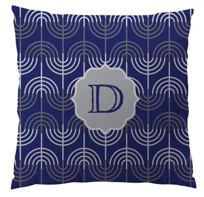 Pillows - Hanukkah Menorah Blue Small