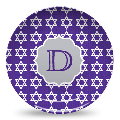 Microwave Safe Dinnerware Plate - Star of David Damask