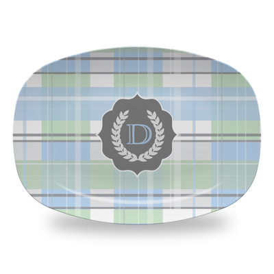 Microwavable Platter - Blue Plaid Seal