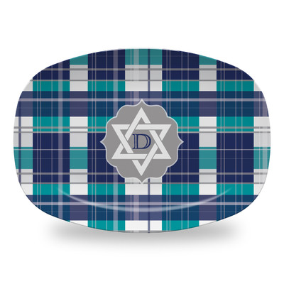 Microwavable Platter - Hanukkah Plaid