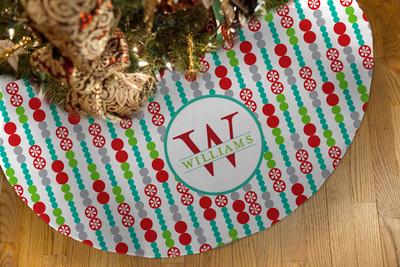 Tree Skirts - Holiday Dot