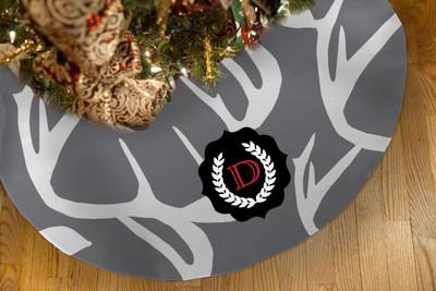 Tree Skirts - Abstract Deer Gray