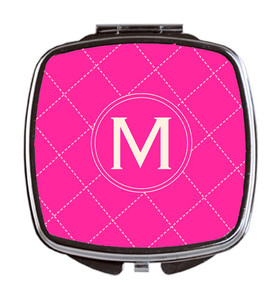Compact Mirror- Chanel Stitch Pink