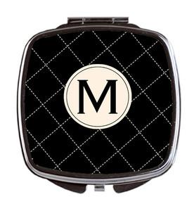 Compact Mirror- Chanel Stitch Black