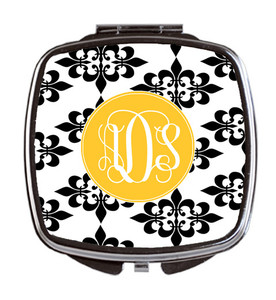 Compact Mirror- Damask