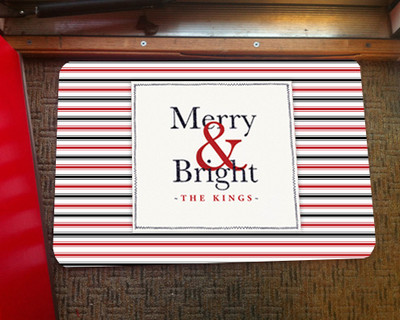 Doormat - Merry & Bright Red and Black