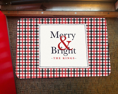Doormat - Merry & Bright Plaid
