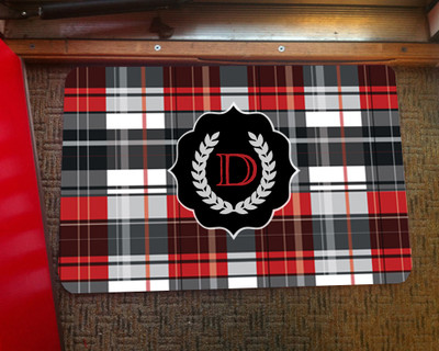 Doormat - Bold Red Plaid
