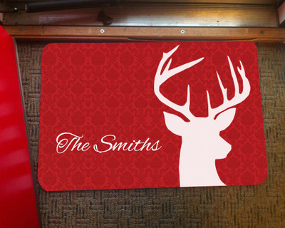 Doormat - Deer Damask
