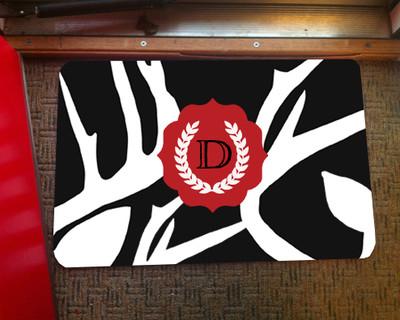Doormat - Abstract Deer Black