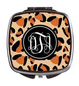 Compact Mirror- Leopard